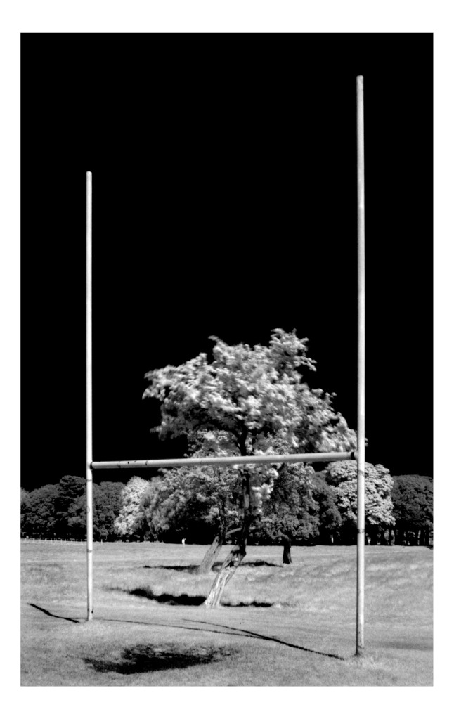 Goalposts in Phoenix Park
